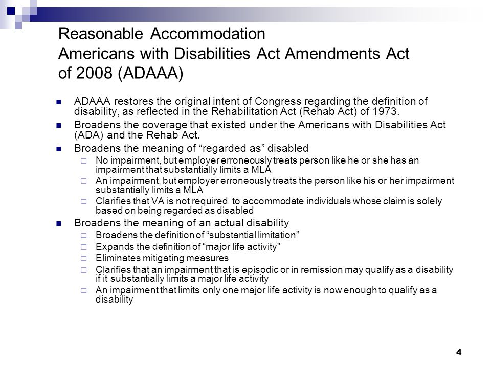 5 Additional Federal Law in This Area In 1998, the Rehabilitation Act was amended to include Section 508 which requires that all electronic and informational technology developed, procured, maintained, and used by the Federal government be accessible to individuals with disabilities.