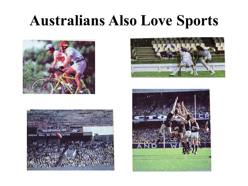 Australians Also Love Sports