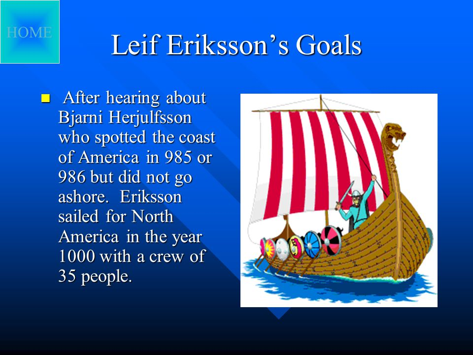 Eriksson's Death and Birth Leif Eriksson was born in the year 970.