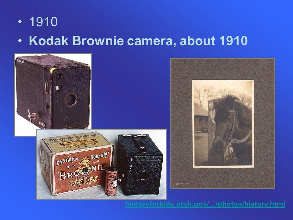 1910 Kodak Brownie camera, about 1910 historyforkids.utah.gov/.../photos/history.html