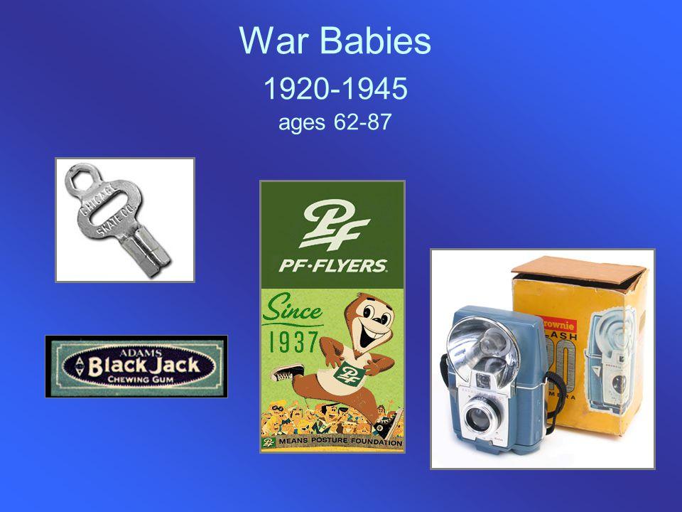War Babies 1920-1945 ages 62-87