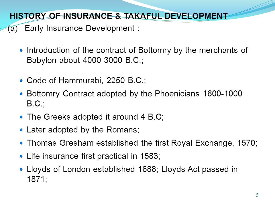 DIFFERENCES BETWEEN TAKAFUL AND INSURANCE CONTRACTS TakafulInsuranceArea Based on mutual cooperation and 'Tabarru' Based solely on commercial factors Contract Profit sharing between the individual participants and the pool of participants in the Takaful Exchange of contract between policyholder and the insurance company Contract Contracts of Agency between the participants and the Takaful operator to manage the fund Insurance is a buy-sale contract.