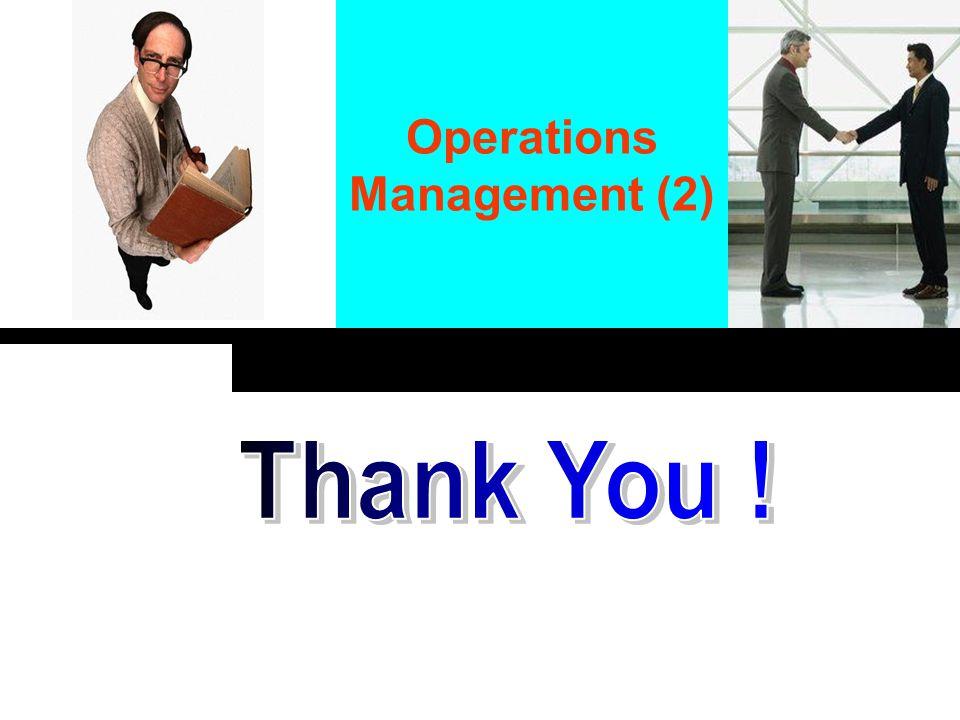 Click to edit company slogan. Operations Management (2)