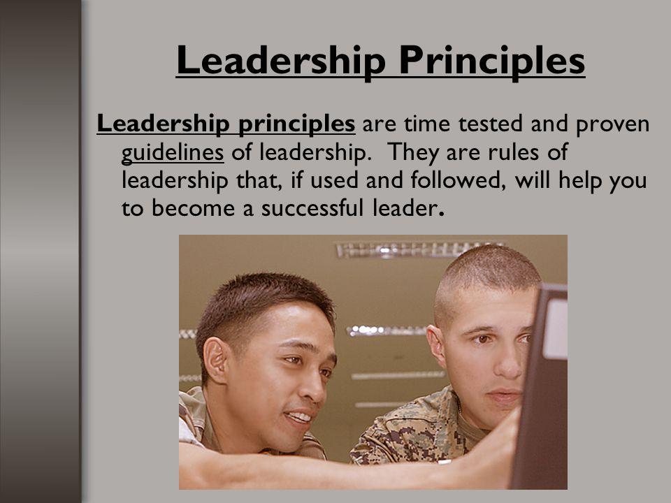 11 Leadership Principles Know Yourself and Seek Self Improvement.