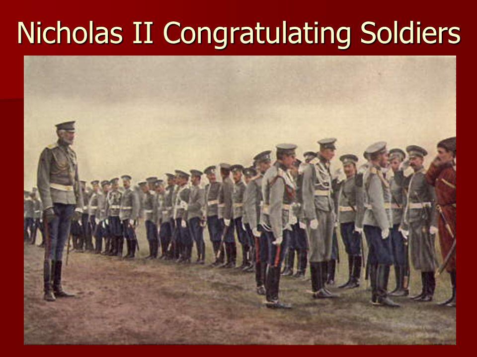 Nicholas II Congratulating Soldiers