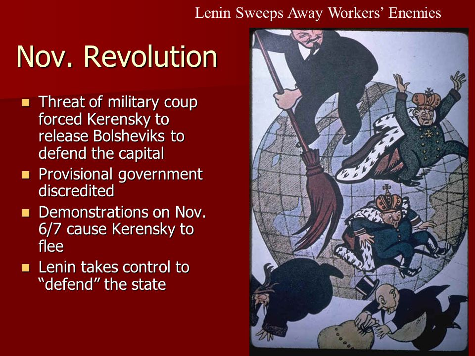 Lenin Sweeps Away Workers' Enemies Nov.