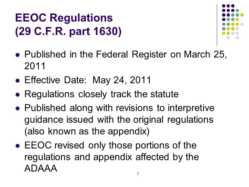 7 EEOC Regulations (29 C.F.R.