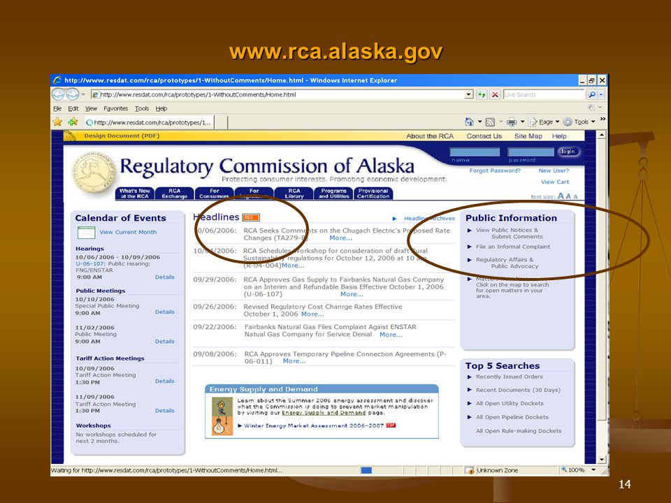14 www.rca.alaska.gov