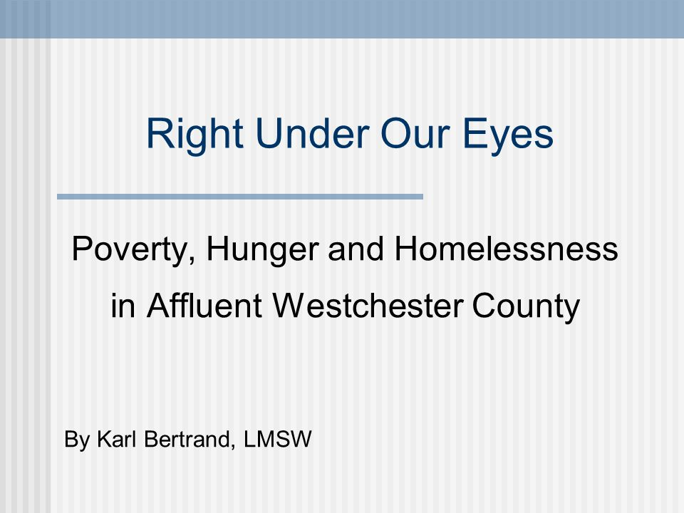 How many people of Westchester's 949,113 residents live in poverty.