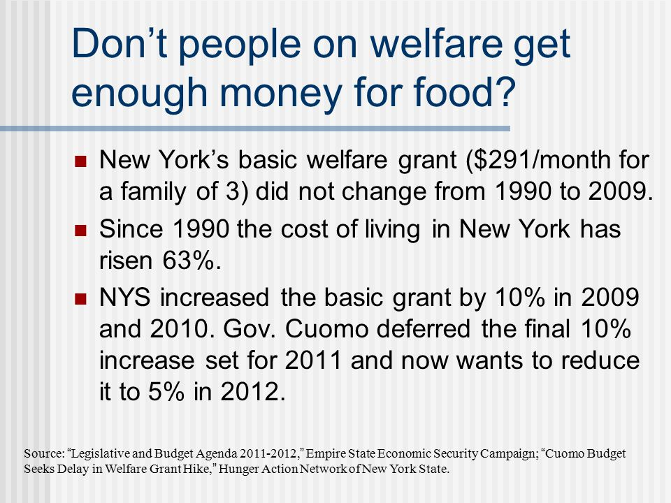 Don't Food Stamps give people enough money for food.