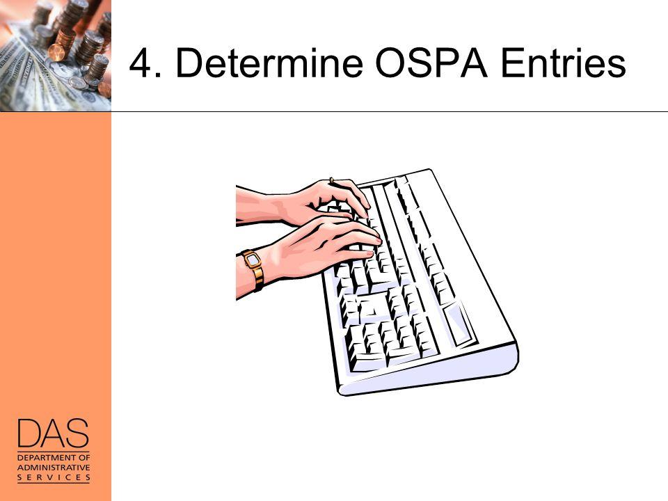 4. Determine OSPA Entries