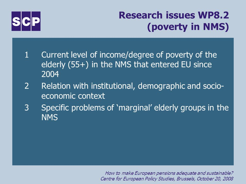 How to make European pensions adequate and sustainable.