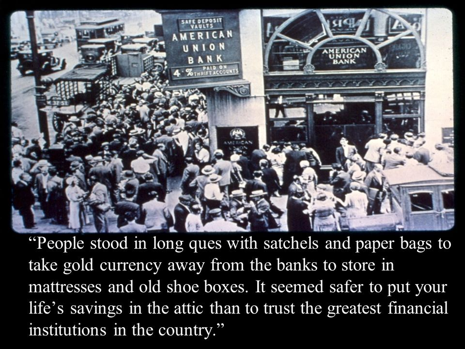 """People stood in long ques with satchels and paper bags to take gold currency away from the banks to store in mattresses and old shoe boxes. It seemed"