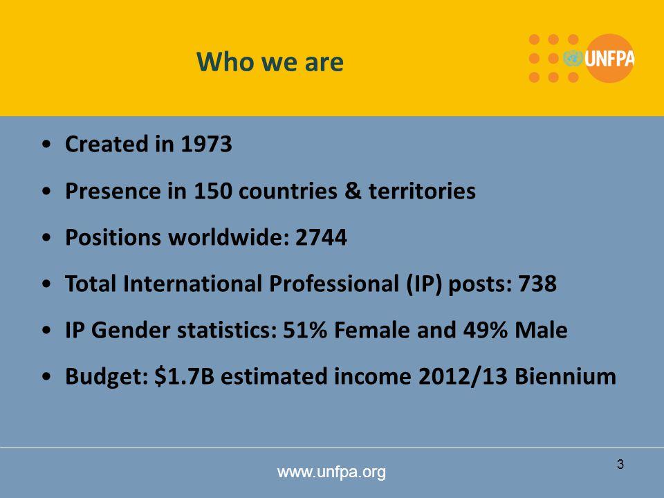 www.unfpa.org What does UNFPA do.