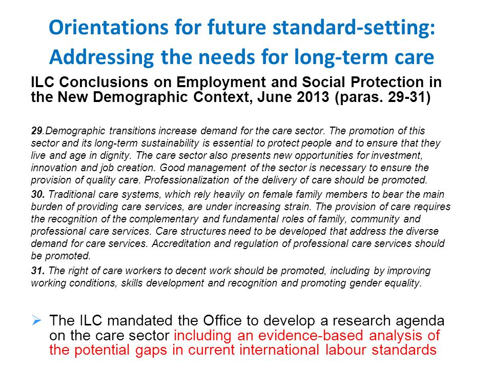 ILC Conclusions on Employment and Social Protection in the New Demographic Context, June 2013 (paras.