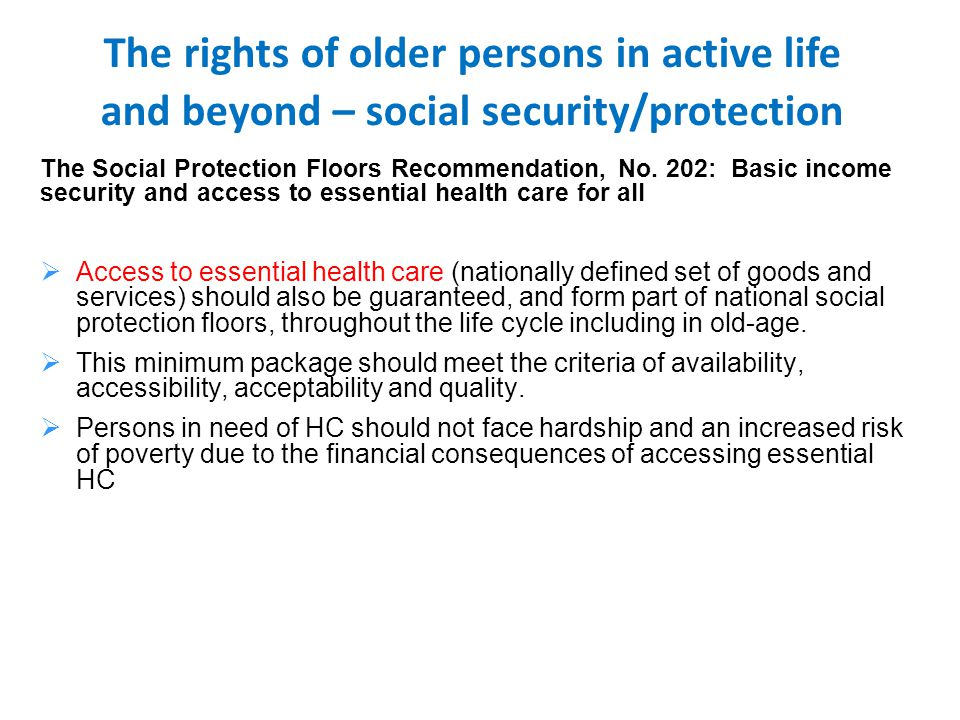 The Social Protection Floors Recommendation, No.