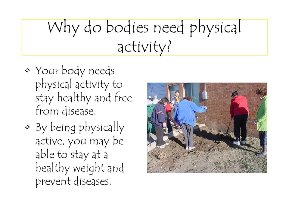 Why do bodies need physical activity.