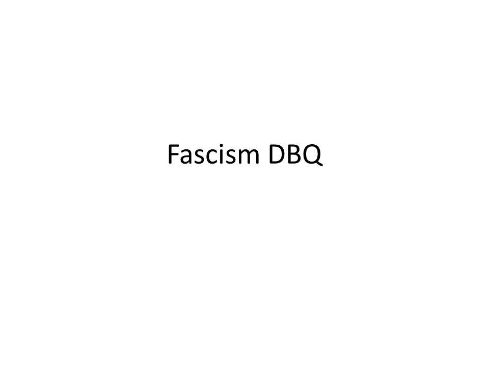 Fascism DBQ
