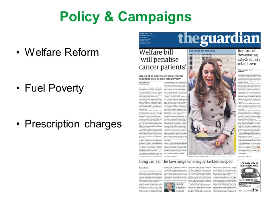 Policy & Campaigns Welfare Reform Fuel Poverty Prescription charges