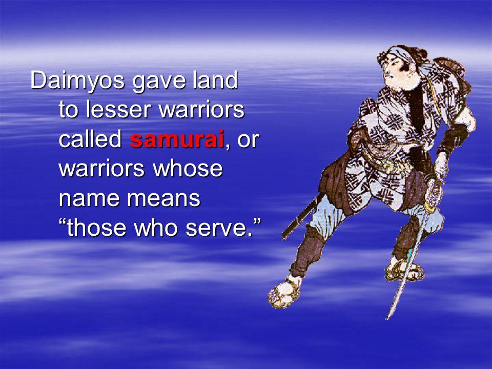 A shogun is supreme military commander. A daimyo is a powerful landowner.