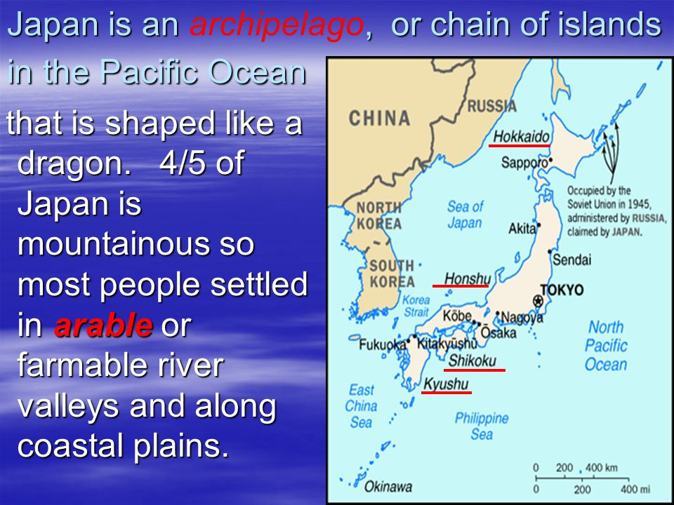 Kyushu Shikoku Honshu Hokkaido Sea of Japan East China Sea Korea Strait Sea of Okhotsk Tsuguru Strait Inland Sea Mt.