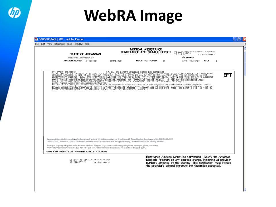 WebRA Image
