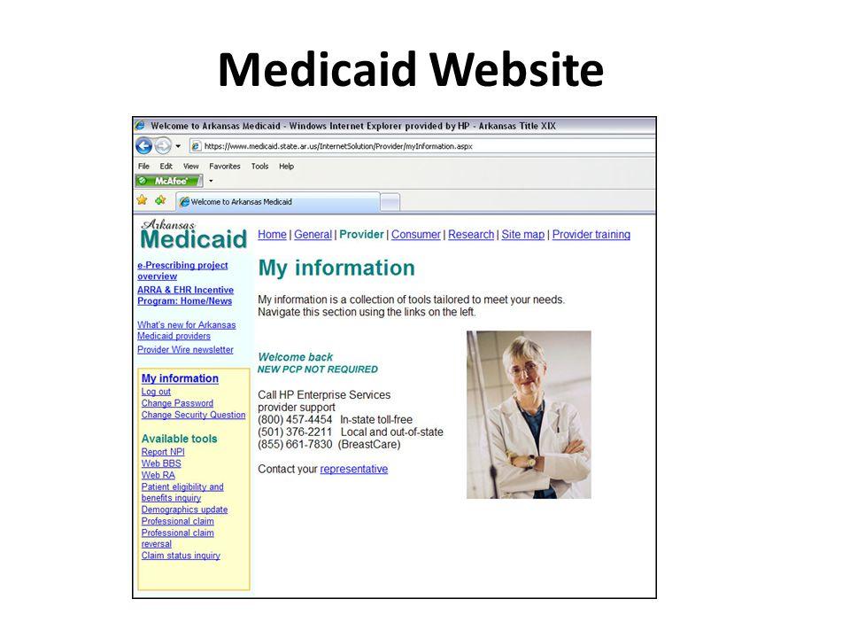 Medicaid Website