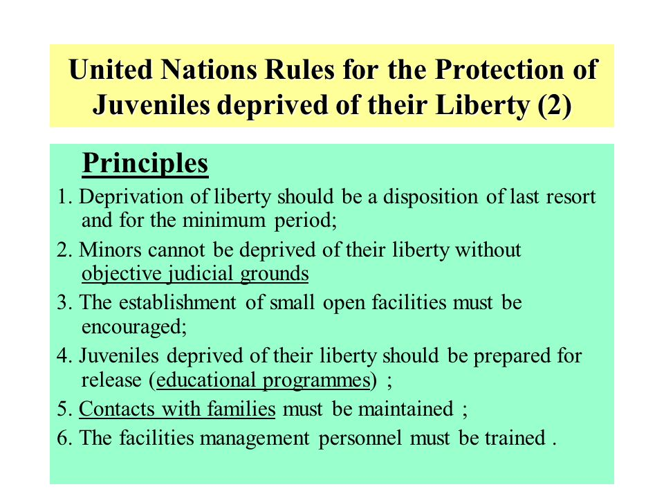 9 THE CONVENTION ON THE RIGHTS OF THE CHILD (1989) A holistic text, with basic principles related to Juvenile Justice : Non-discrimination (art.