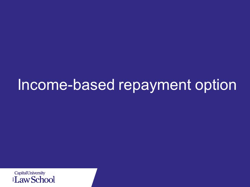 Income-based repayment option