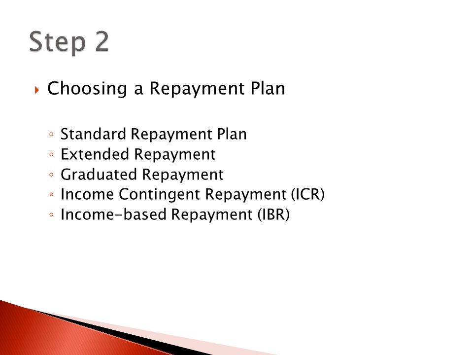  All borrowers are automatically enrolled in the standard repayment plan.