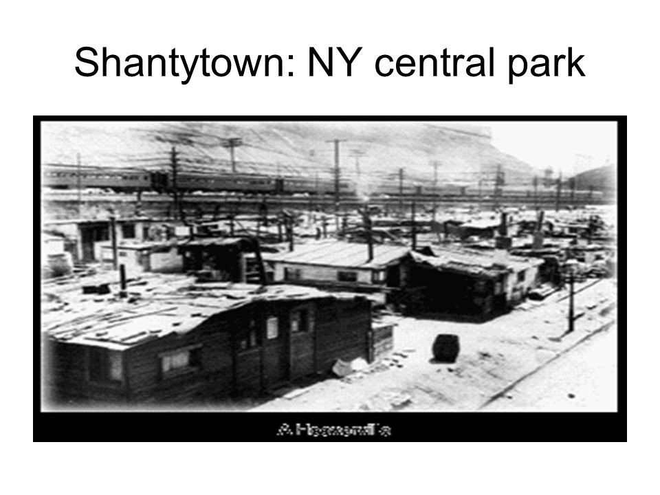 Shantytown: NY central park