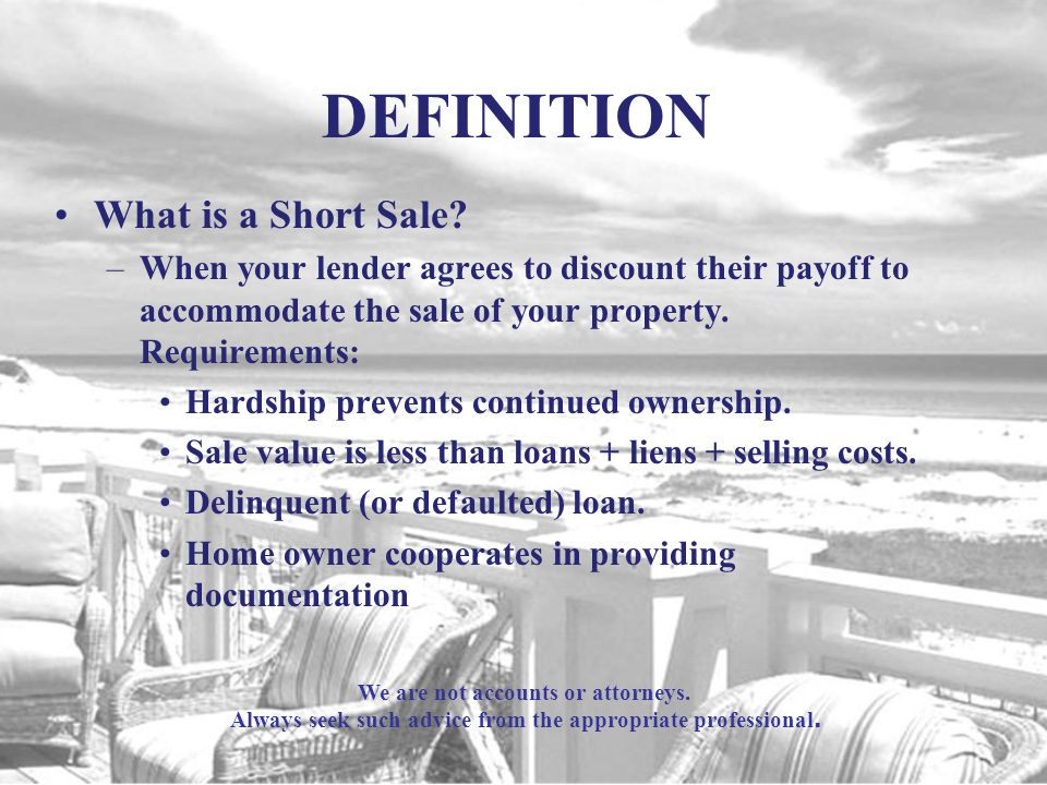 DEFINITION What is a Short Sale.
