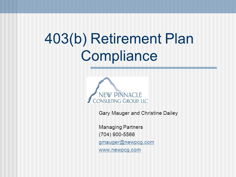 Agenda Key 403(b) regulations First year audit findings Employer responsibilities Next steps Resources for help Questions and discussion