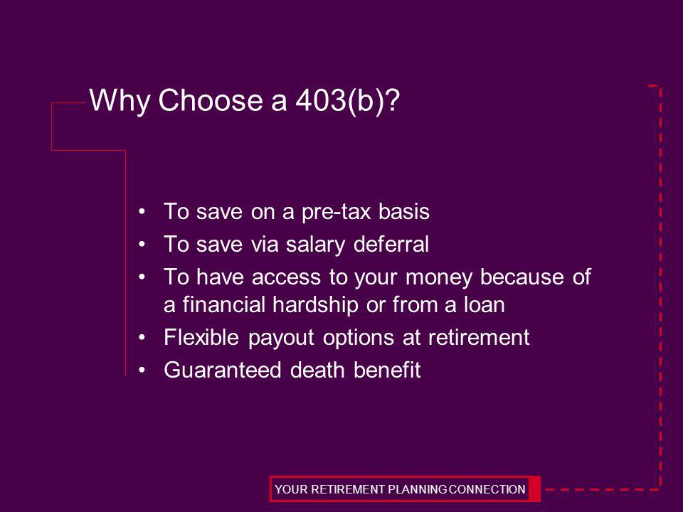Why Choose a 403(b).