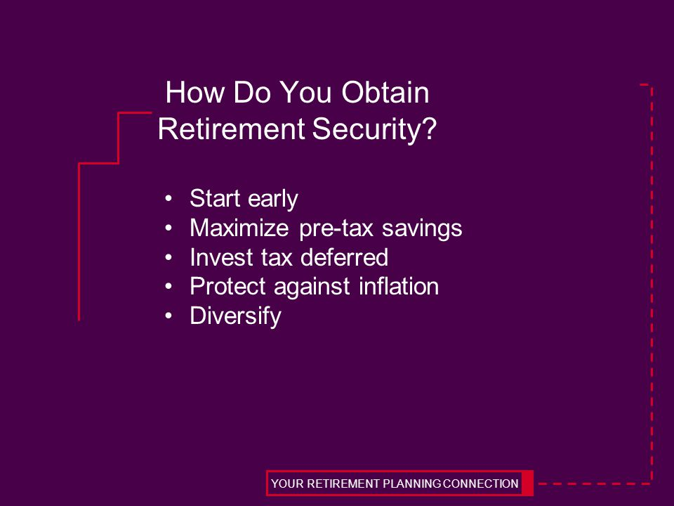 How Do You Obtain Retirement Security.