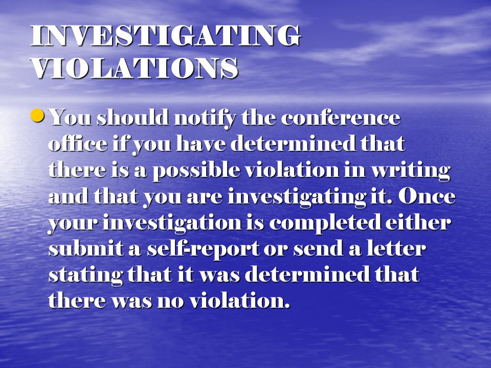VIOLATIONS OF MEAC POLICY Participation of an ineligible player Participation of an ineligible player Submit to the Conference Office the contests in