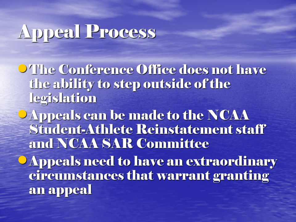 Medical Hardship Waiver Do not submit waivers for student- athletes who have not participated Do not submit waivers for student- athletes who have not participated If you wish to appeal a denied waiver, submit a written request and it will be brought before the FARA for a decision If you wish to appeal a denied waiver, submit a written request and it will be brought before the FARA for a decision Medical Hardship waivers does not extend the five year clock Medical Hardship waivers does not extend the five year clock