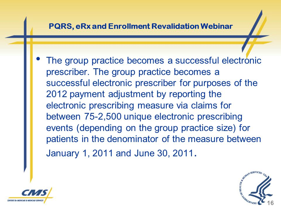 The group practice becomes a successful electronic prescriber.