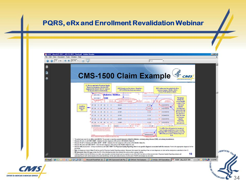 34 PQRS, eRx and Enrollment Revalidation Webinar