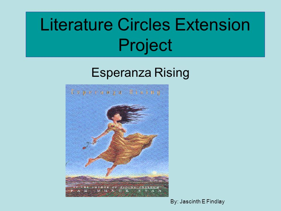 Literature Circles Extension Project Esperanza Rising By: Jascinth E Findlay