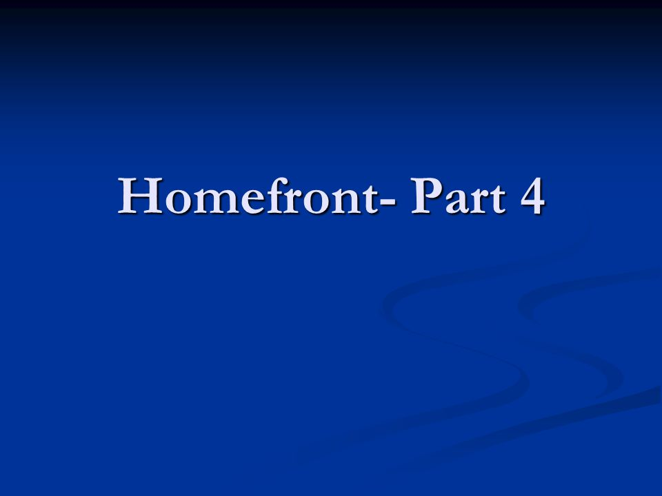 Homefront- Part 4