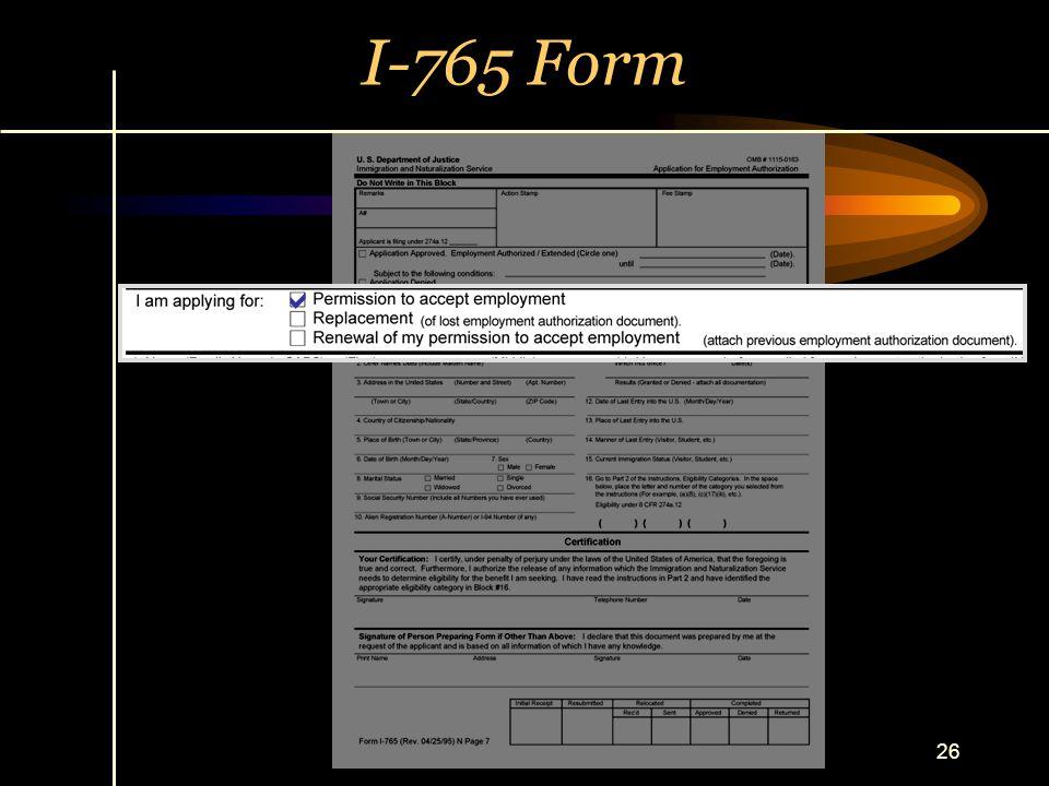 26 I-765 Form 