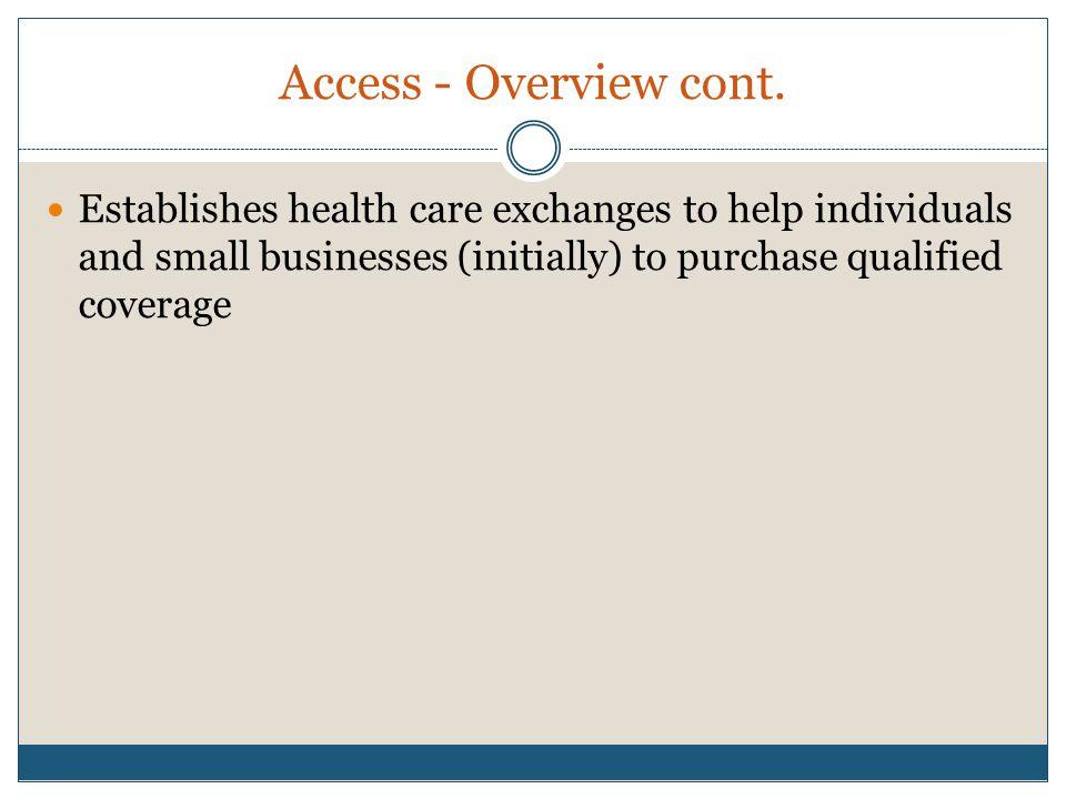 Individual Responsibility Requires individuals to maintain minimum essential coverage beginning in 2014.