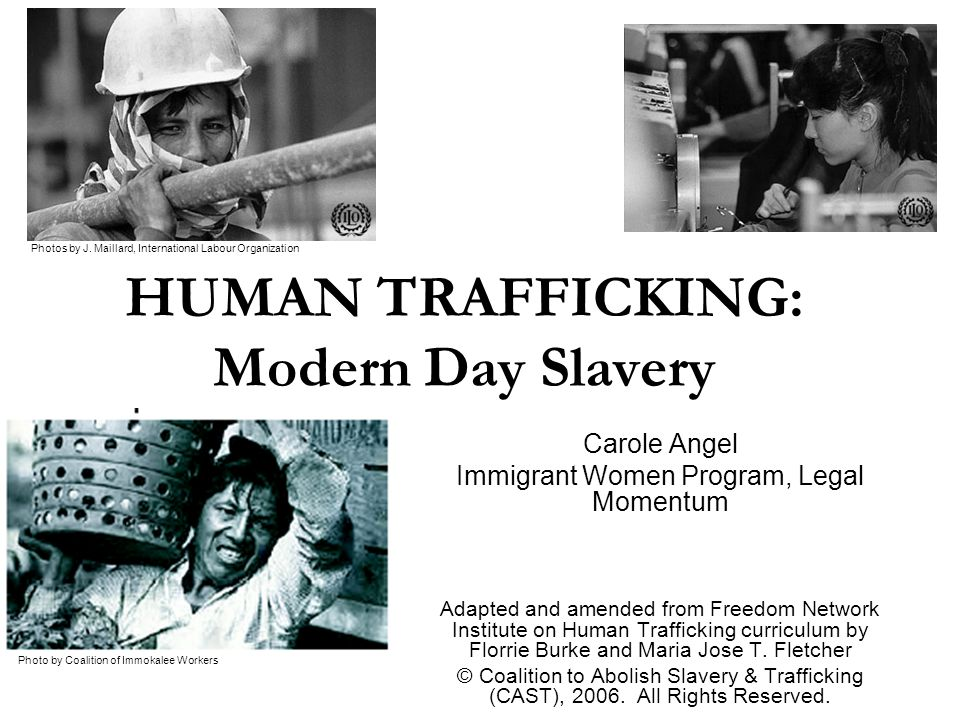 Human Trafficking Some rough estimates of the scope of the problem In the U.S.