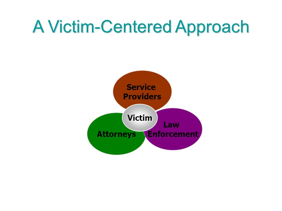 A Victim-Centered Approach Attorneys Service Providers Law Enforcement Victim