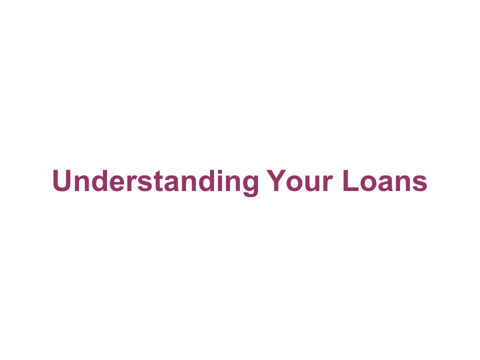 Understanding Your Loans