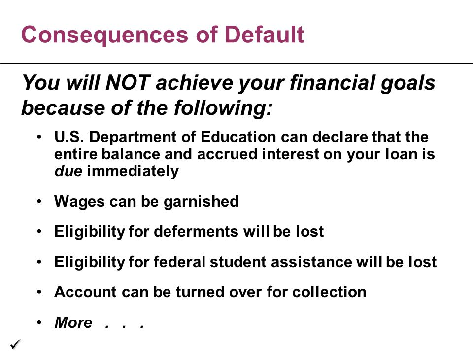 Consequences of Default U.S.