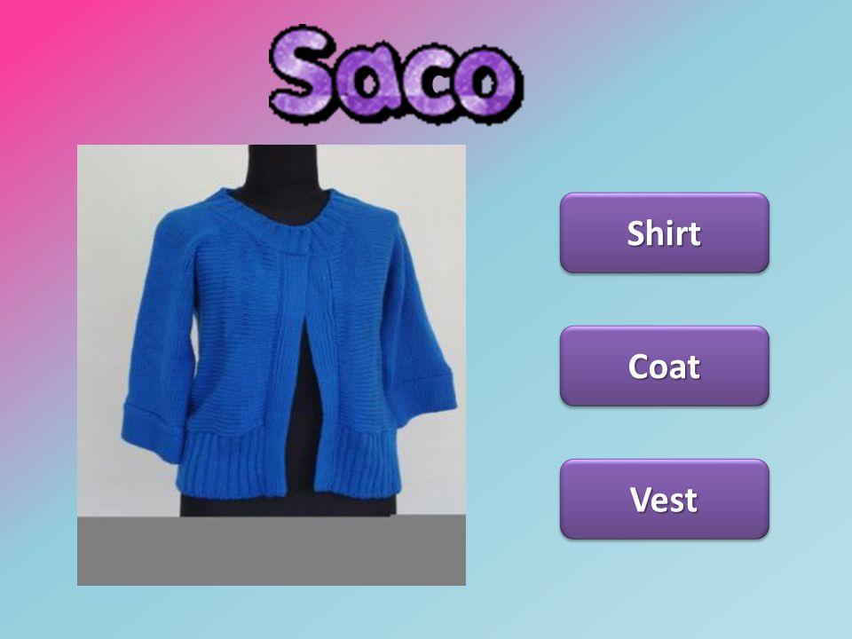 Saco Shirt Vest Coat
