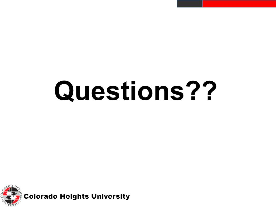 Colorado Heights University Questions