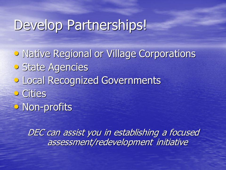 Develop Partnerships.
